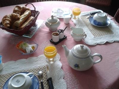 Petit déjeuner des chambres d'hôtes